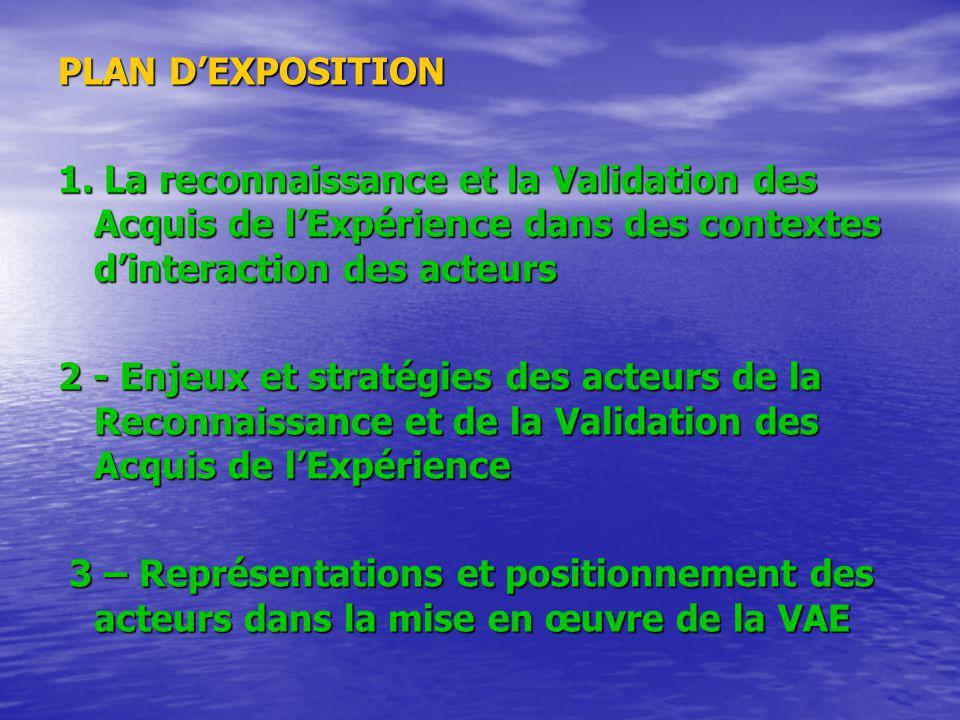 PLAN DEXPOSITION 1.