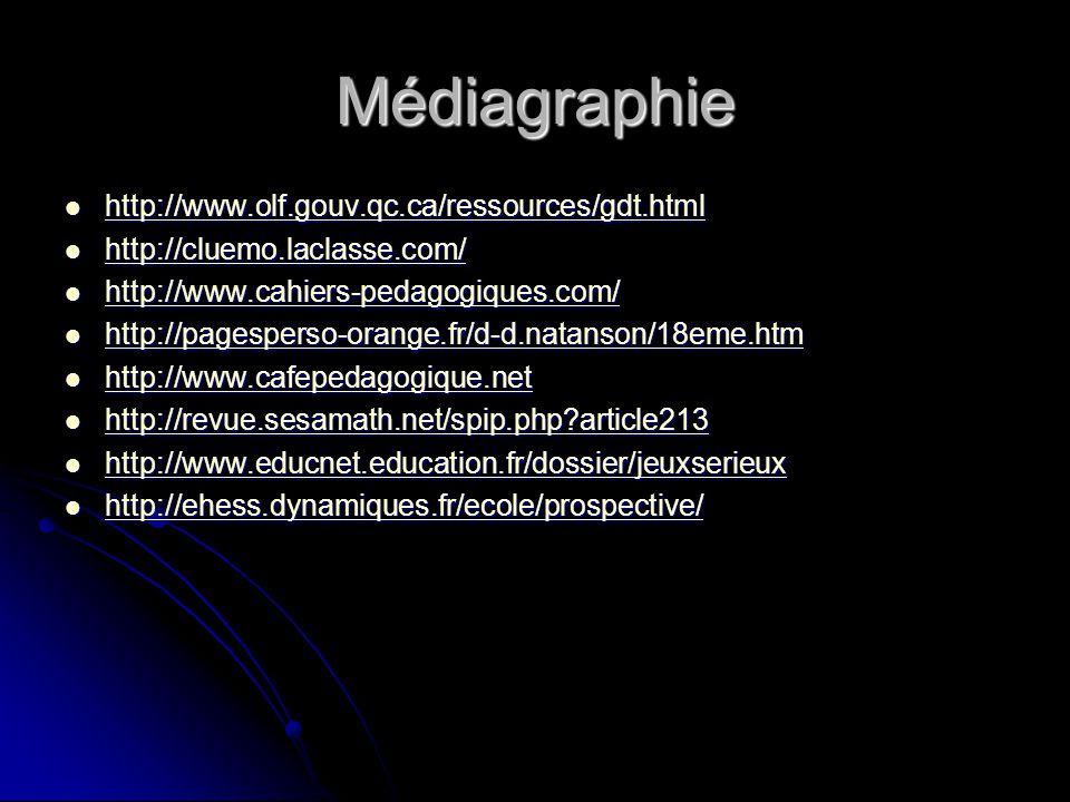 Médiagraphie http://www.olf.gouv.qc.ca/ressources/gdt.html http://www.olf.gouv.qc.ca/ressources/gdt.html http://www.olf.gouv.qc.ca/ressources/gdt.html