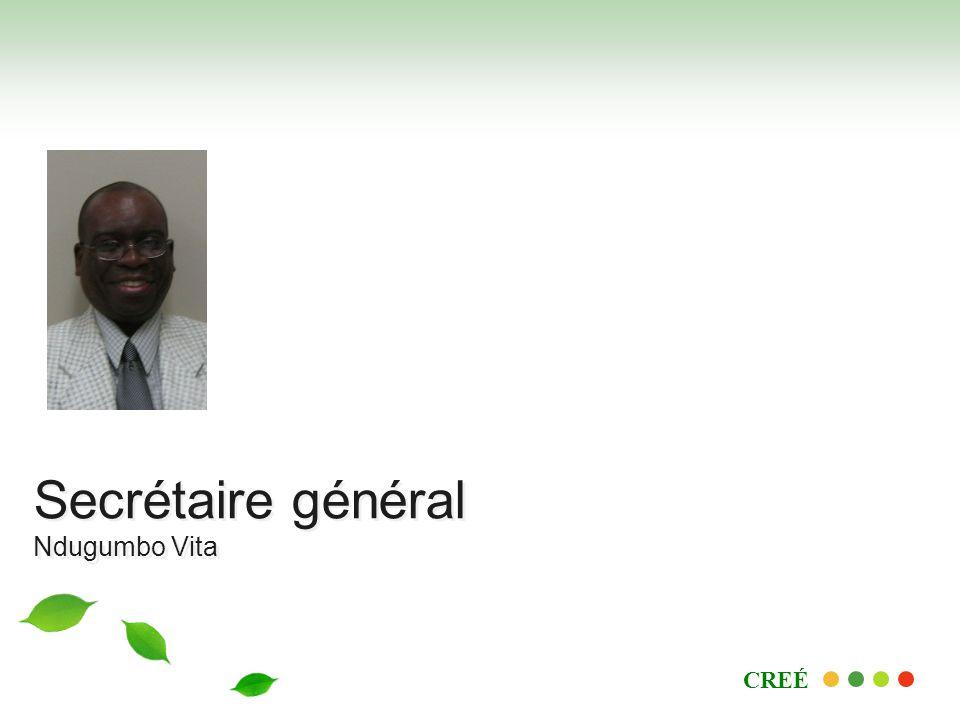 CREÉ Secrétaire général Ndugumbo Vita