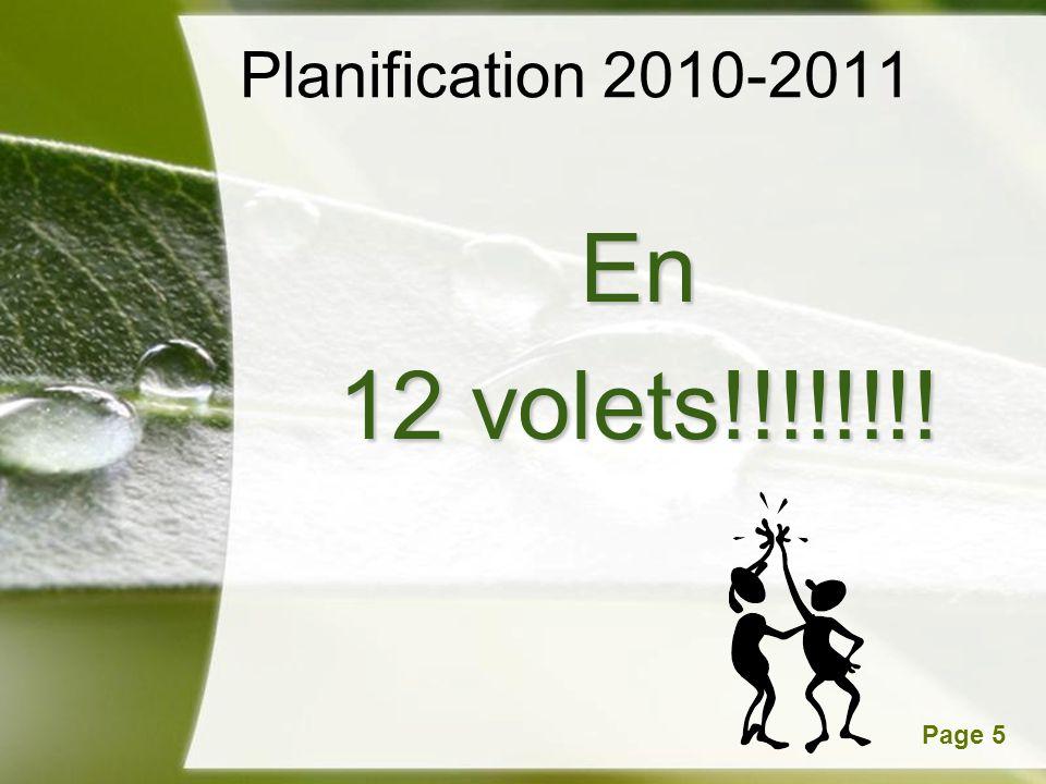 Powerpoint TemplatesPage 5 Planification 2010-2011 En 12 volets!!!!!!!!