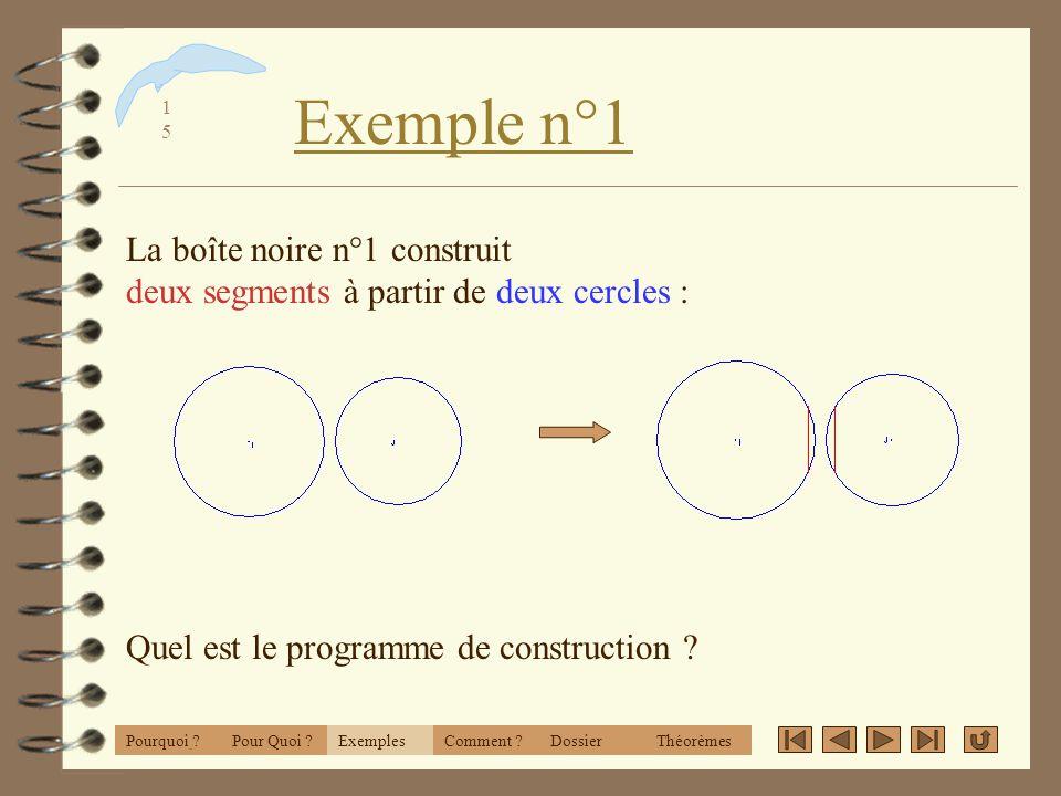 1414 Exemples L idée « Boîtes Noires » ExemplesPourquoi ?Comment ?DossierThéorèmesPour Quoi ?