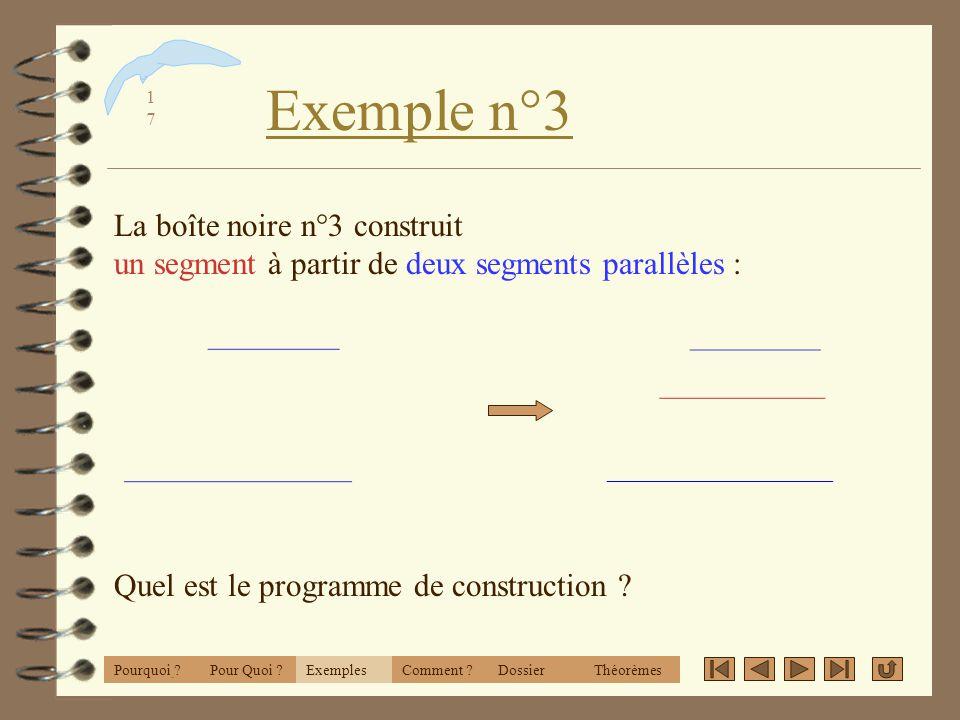 1616 Exemple n° 2 ExemplesPourquoi ?Comment ?DossierThéorèmesPour Quoi ? La boîte noire n°2 construit un carré à partir de d un point sur un cercle :