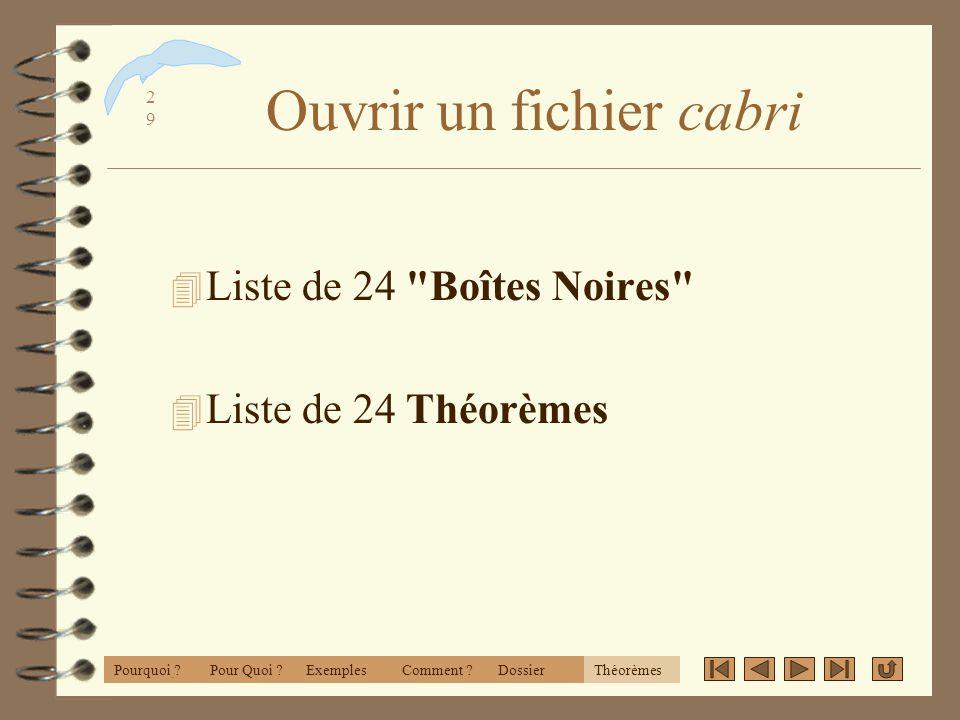 2828 Remarques 4 Il est facile de moduler - selon le programme - avec les objets initiaux. 4 Attention à l'ordre et la symétrie 4 Observez votre strat