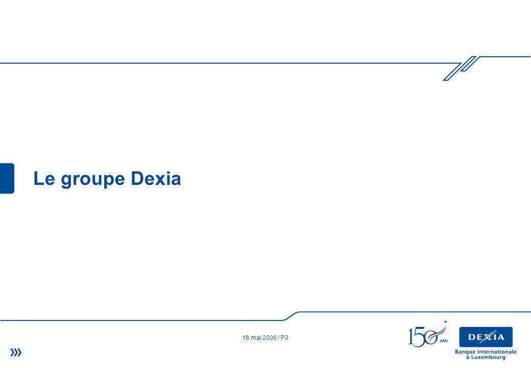 16 mai 2006 / P3 Le groupe Dexia