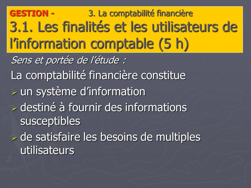 GESTION - 3. La comptabilité financière 3.1.