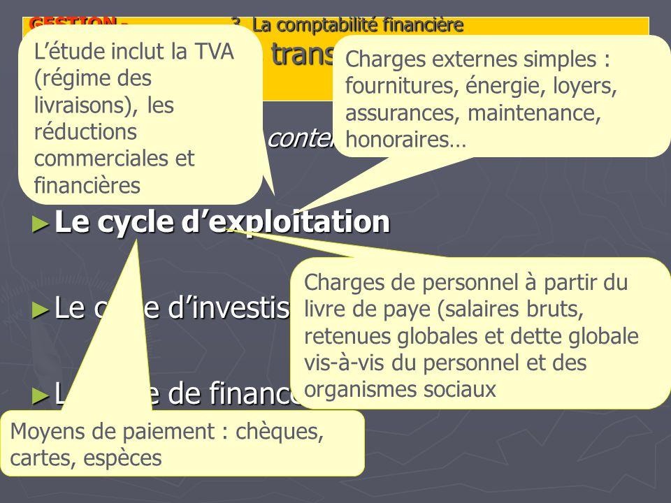 GESTION - 3. La comptabilité financière 3.4.