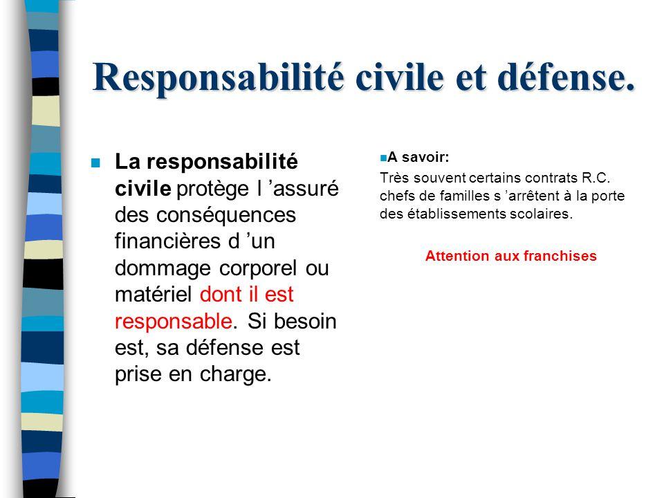Responsabilité civile et défense.