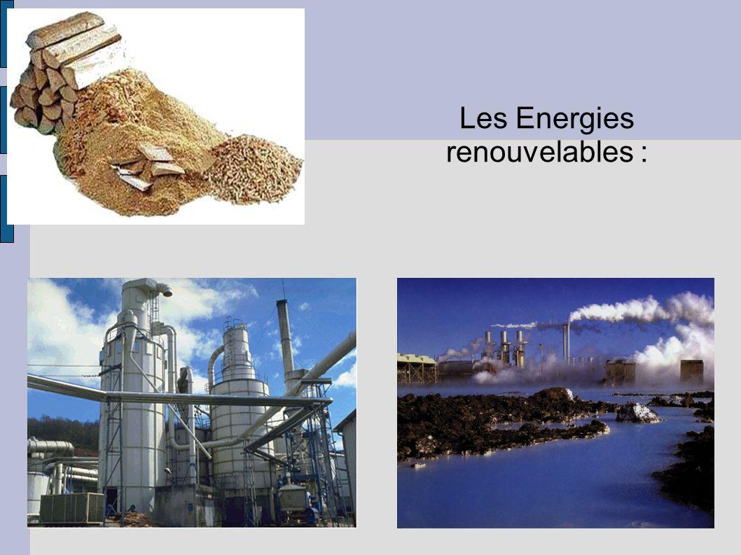 Les Energies renouvelables :