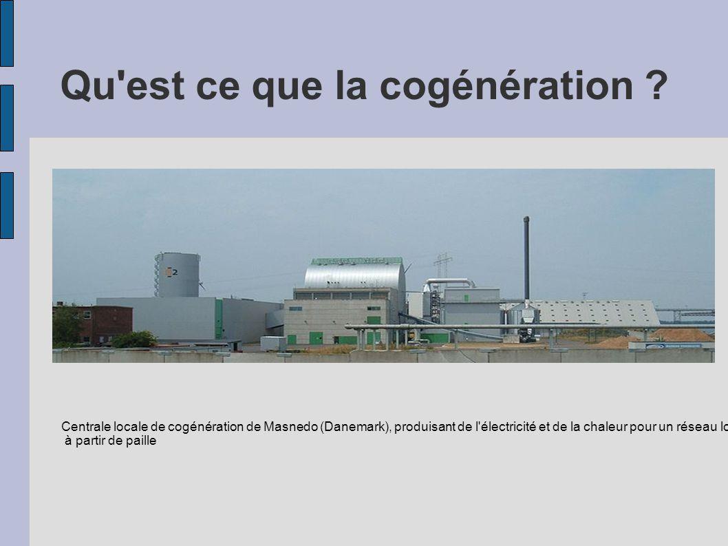 Qu'est ce que la cogénération ? Centrale locale de cogénération de Masnedo (Danemark), produisant de l'électricité et de la chaleur pour un réseau loc