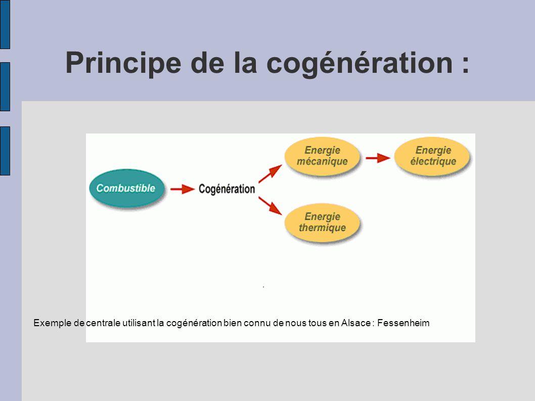 Principe de la cogénération : Exemple de centrale utilisant la cogénération bien connu de nous tous en Alsace : Fessenheim