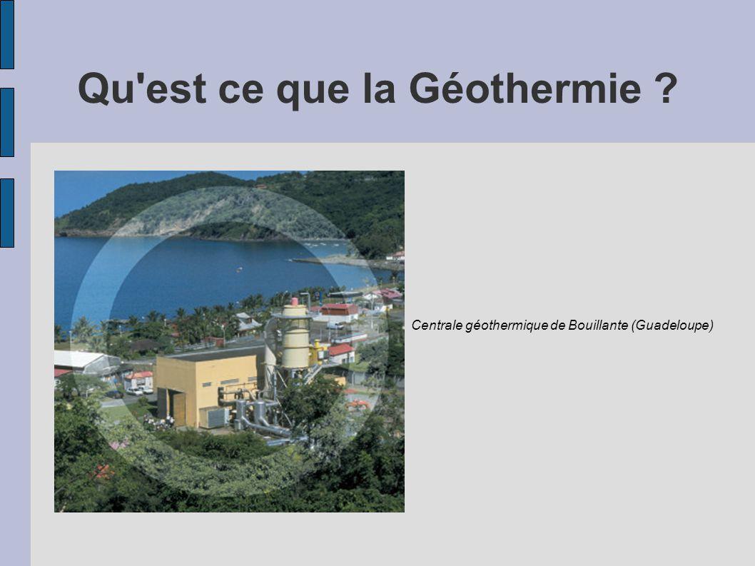Qu'est ce que la Géothermie ? Centrale géothermique de Bouillante (Guadeloupe)