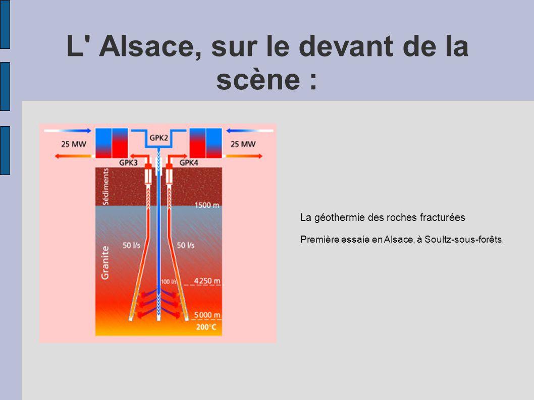L' Alsace, sur le devant de la scène : La géothermie des roches fracturées Première essaie en Alsace, à Soultz-sous-forêts.