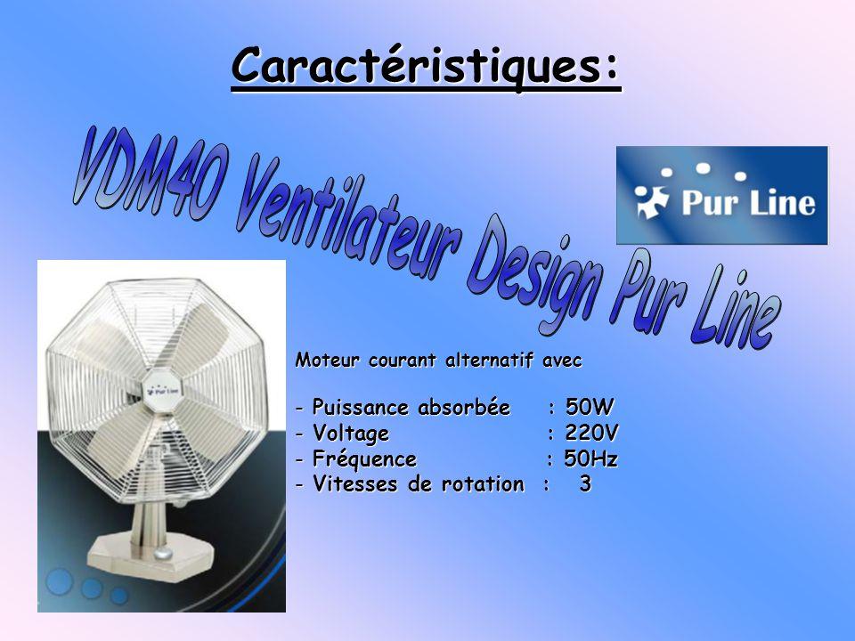 Moteur courant alternatif avec - Puissance absorbée : 50W - Voltage : 220V - Fréquence : 50Hz - Vitesses de rotation : 3 Caractéristiques: