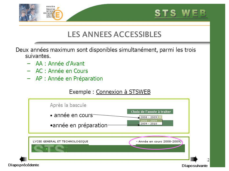 Diapo précédente Diapo suivante 3 Préparation de la prochaine rentrée scolaire Que fait la Bascule de STSWEB.