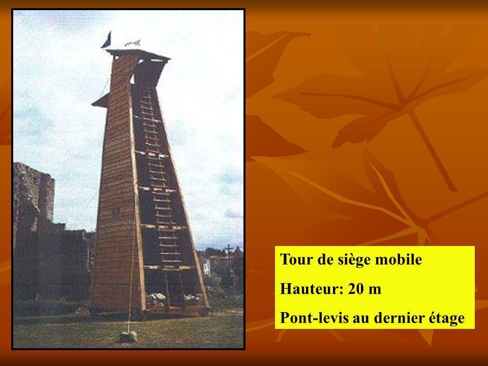 Tour de siège mobile Hauteur: 20 m Pont-levis au dernier étage