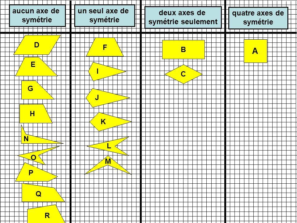 A B C I K H G J N M O P Q R F L diagonales isométriques diagonales perpendiculaires E D