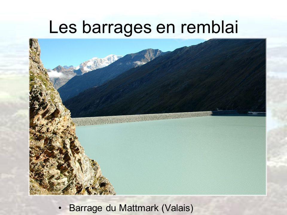 Les barrages en remblai Barrage du Mattmark (Valais)