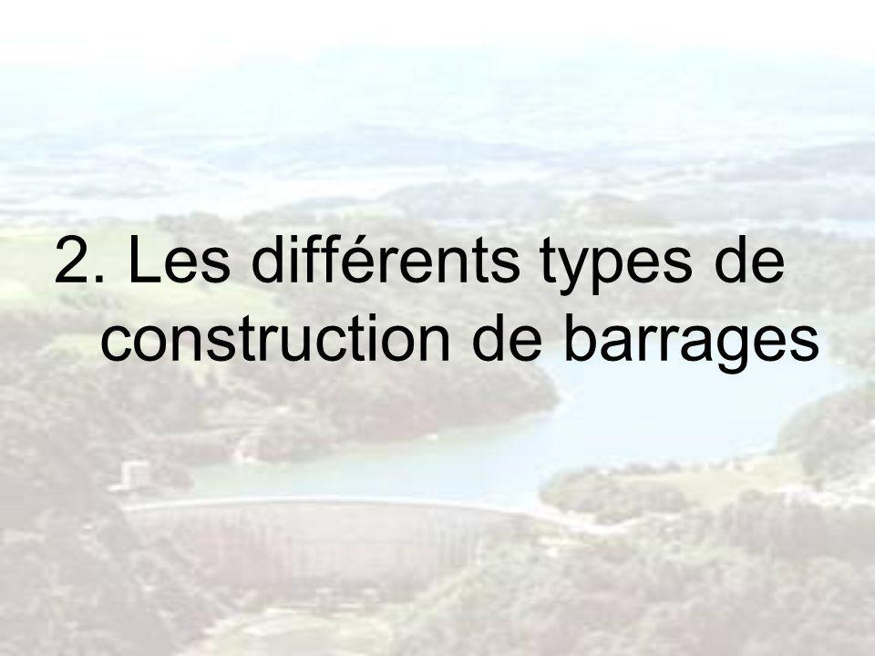 2. Les différents types de construction de barrages