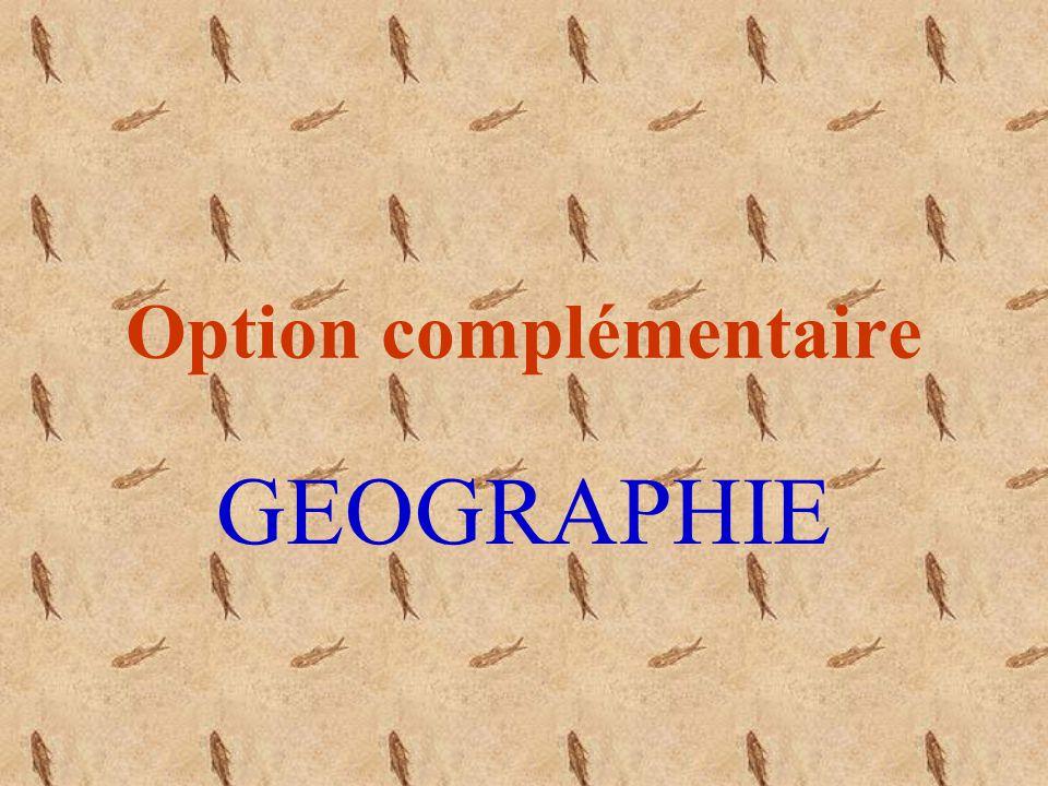 Option complémentaire GEOGRAPHIE