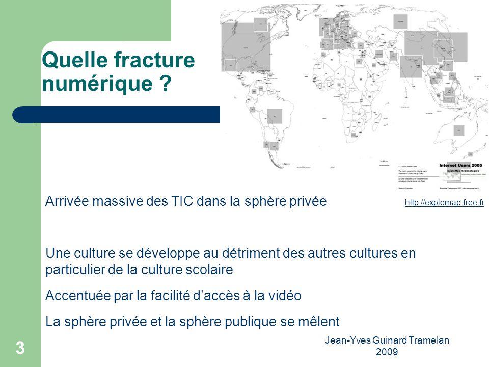 Jean-Yves Guinard Tramelan 2009 34 Références DIONI pratiques et usages des TIC par les lycéens rapport de recherche INRP ( 2005) disponible sur.
