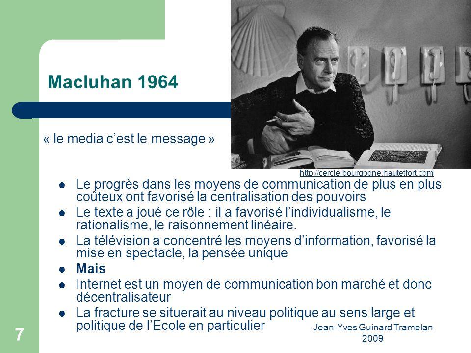 Jean-Yves Guinard Tramelan 2009 8 Comment lEcole peut-elle intervenir pour garder ses valeurs.