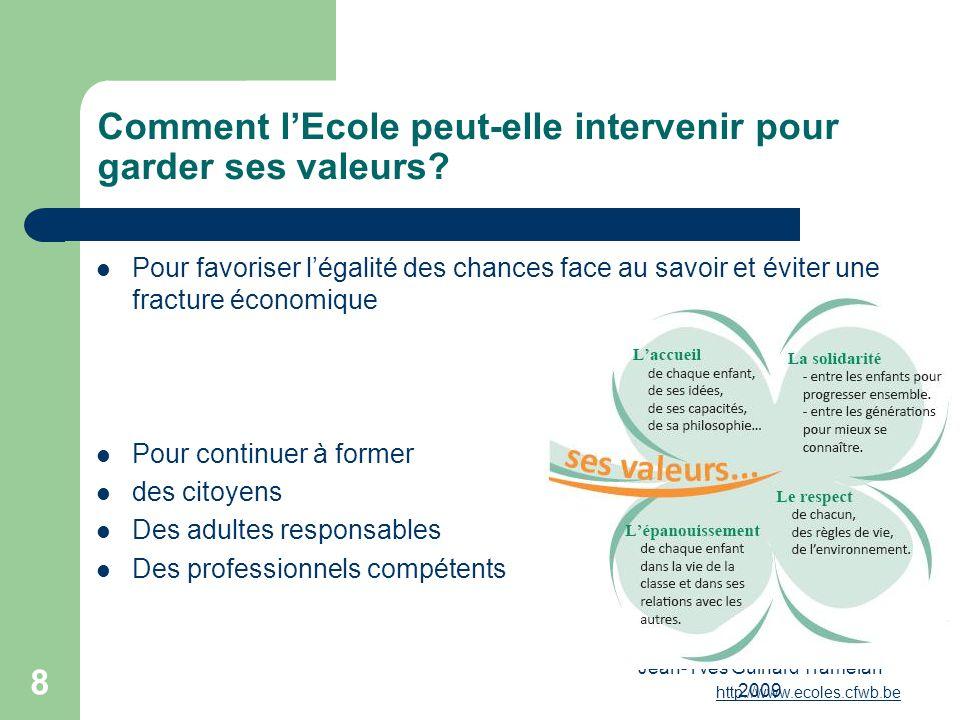 Jean-Yves Guinard Tramelan 2009 9 Trois constats : Vitesse de renouvellement des savoirs Travailler cest de plus en plus fabriquer, échanger de linformation Les TIC amplifient les capacités cognitives.