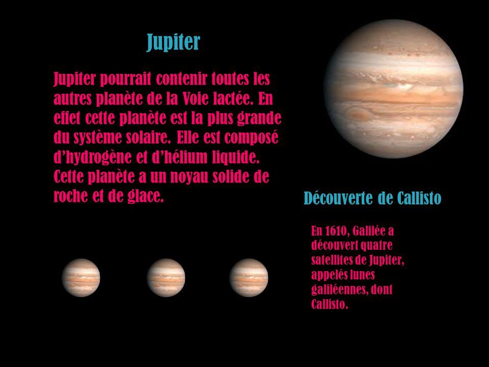 Jupiter Jupiter pourrait contenir toutes les autres planète de la Voie lactée. En effet cette planète est la plus grande du système solaire. Elle est