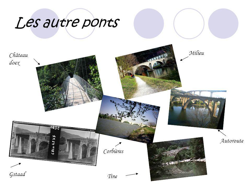 Les autre ponts Milieu Gstaad Château doex Autoroute Tine Corbières