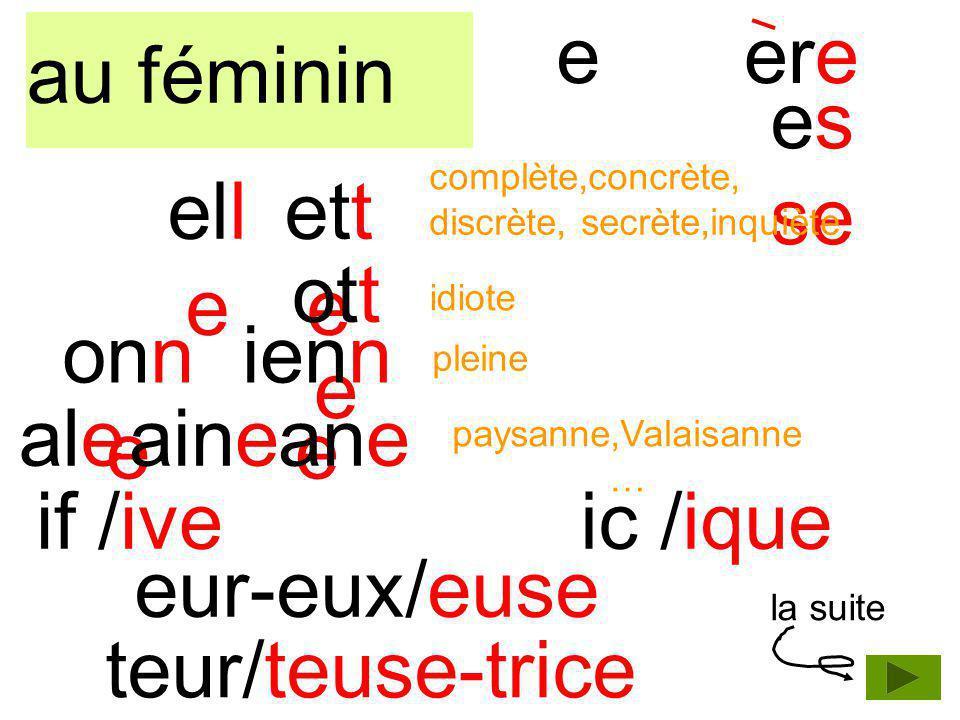 accents a..e.= au milieu dune syllage b. è /(e) = si syllabe suivante e doux c.