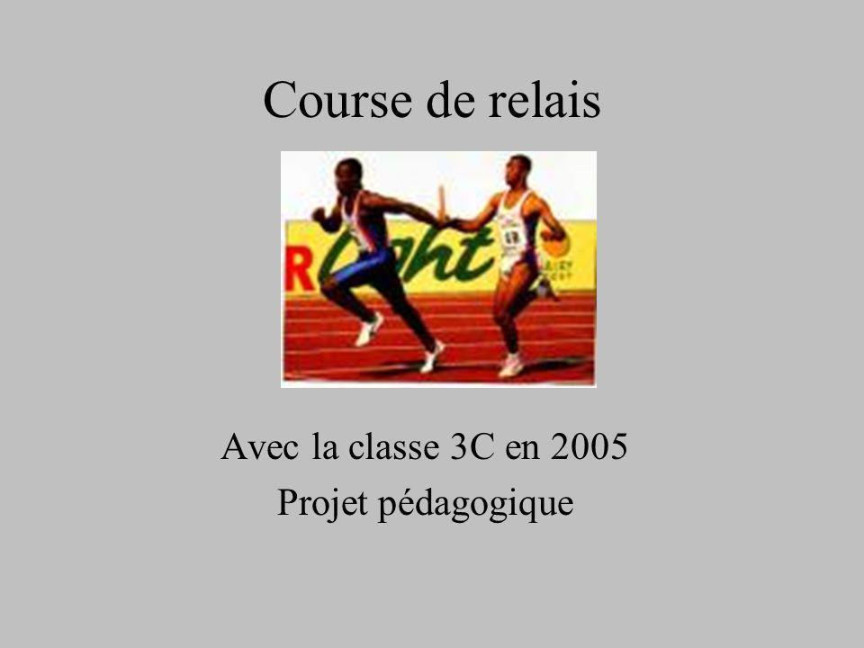 Course de relais Avec la classe 3C en 2005 Projet pédagogique