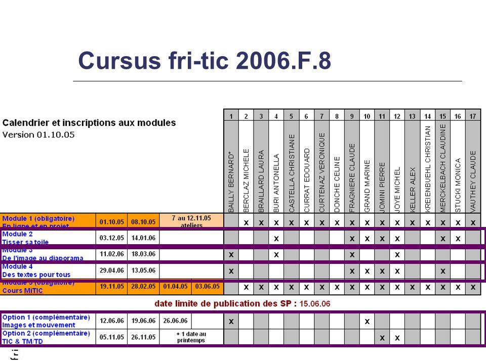 Cursus fri-tic 2006.F.8