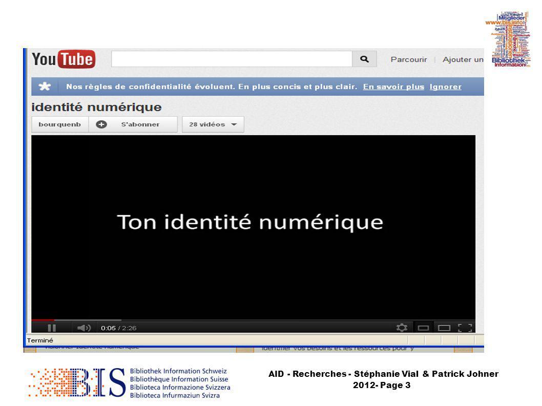 AID - Recherches - Stéphanie Vial & Patrick Johner 2012- Page 4 CNIL
