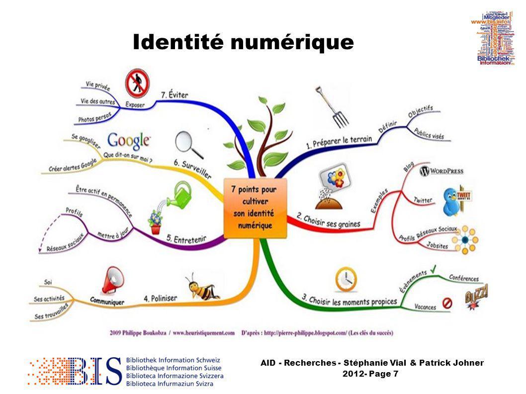 AID - Recherches - Stéphanie Vial & Patrick Johner 2012- Page 7 Identité numérique