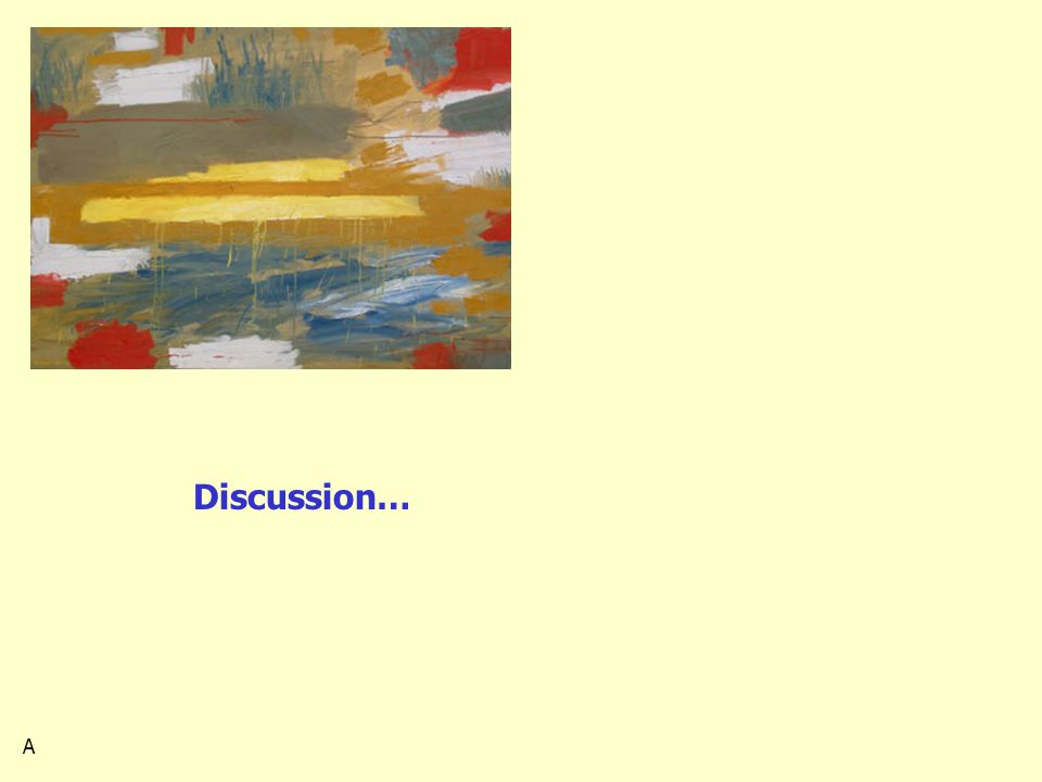 Discussion… A