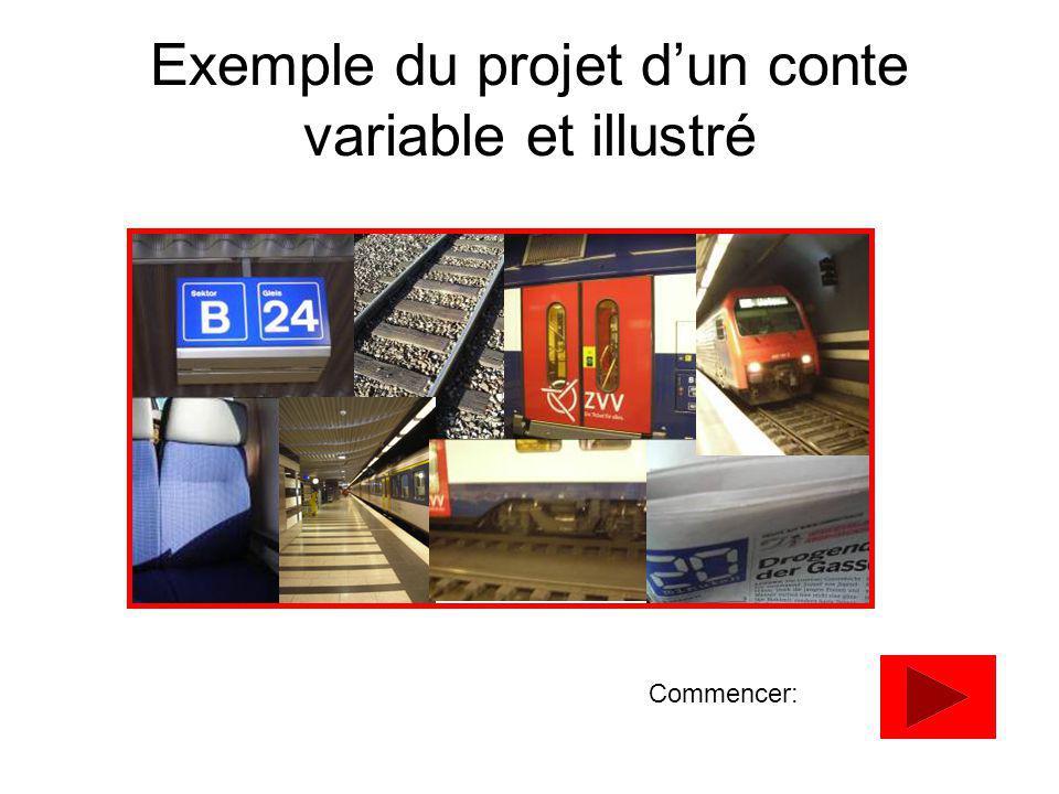 Exemple du projet dun conte variable et illustré Commencer: