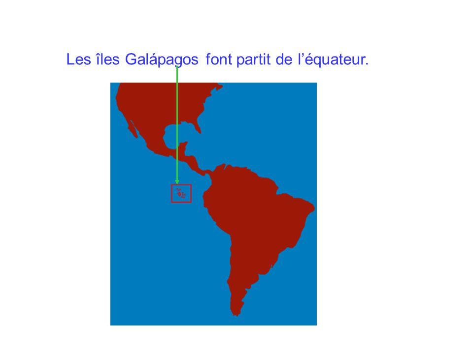 Les îles Galápagos font partit de léquateur.