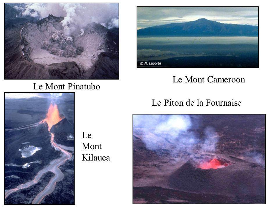 Le Mont Pinatubo Le Mont Cameroon Le Mont Kilauea Le Piton de la Fournaise