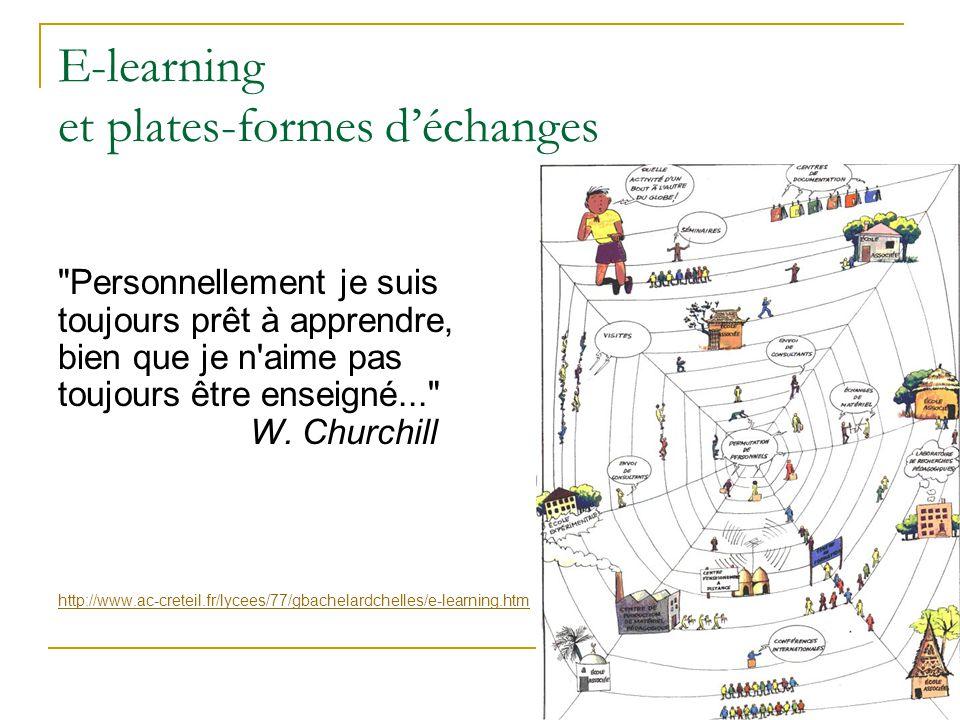 E-learning formation en ligne où une plateforme remplace [ou complète], à la fois l établissement, la salle de classe, le bureau, la bibliothèque… et utilisant Internet comme canal de diffusion.
