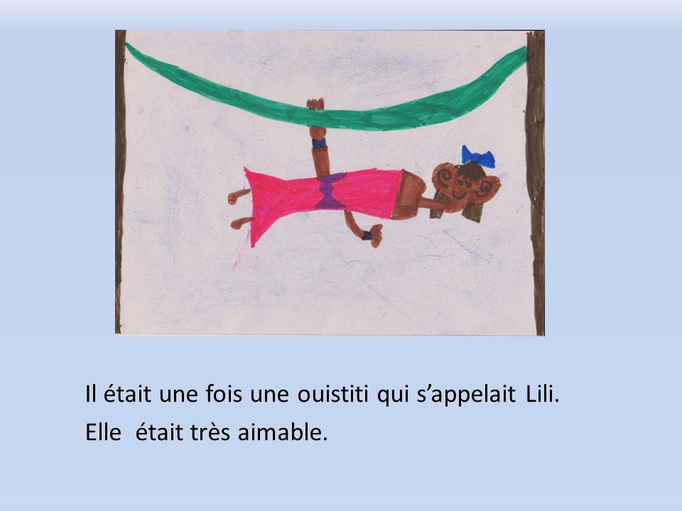 Il était une fois une ouistiti qui sappelait Lili. Elle était très aimable.