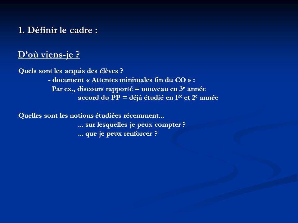 1.Définir le cadre : Qui suis-je . LIRE Le récit réaliste Fr 3 e p.