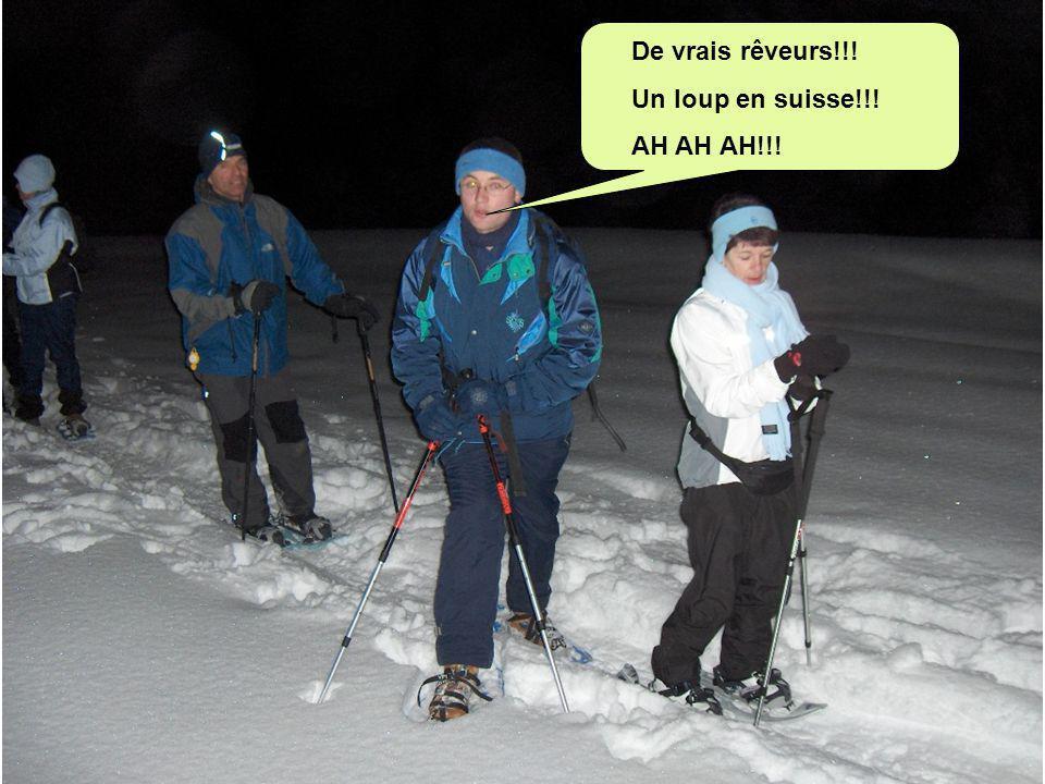 De vrais rêveurs!!! Un loup en suisse!!! AH AH AH!!!