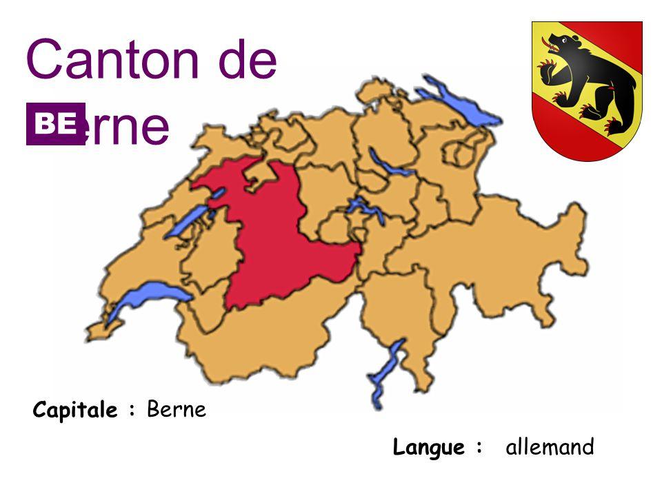 Capitale : Langue : Berne allemand Canton de Berne BE
