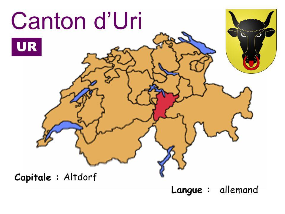 Capitale : Langue : Altdorf allemand Canton dUri UR