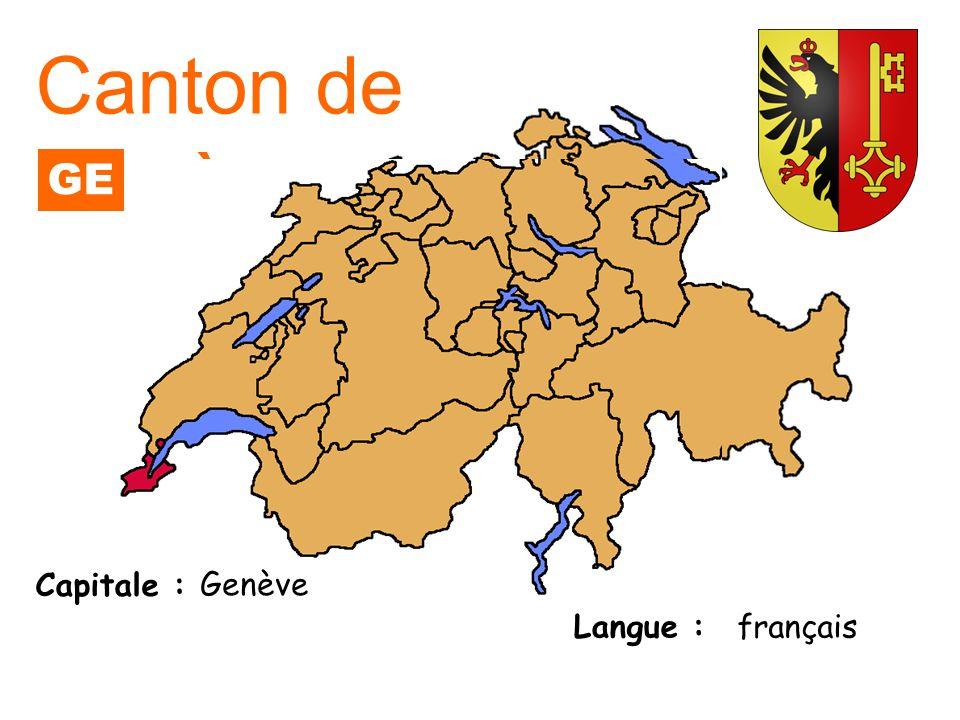 Capitale : Langue : Zurich allemand Canton de Zurich ZH