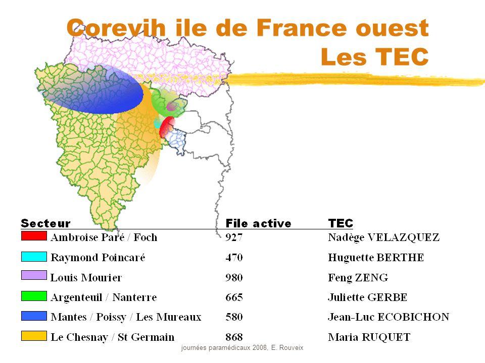 journées paramédicaux 2008, E. Rouveix Corevih ile de France ouest Les TEC