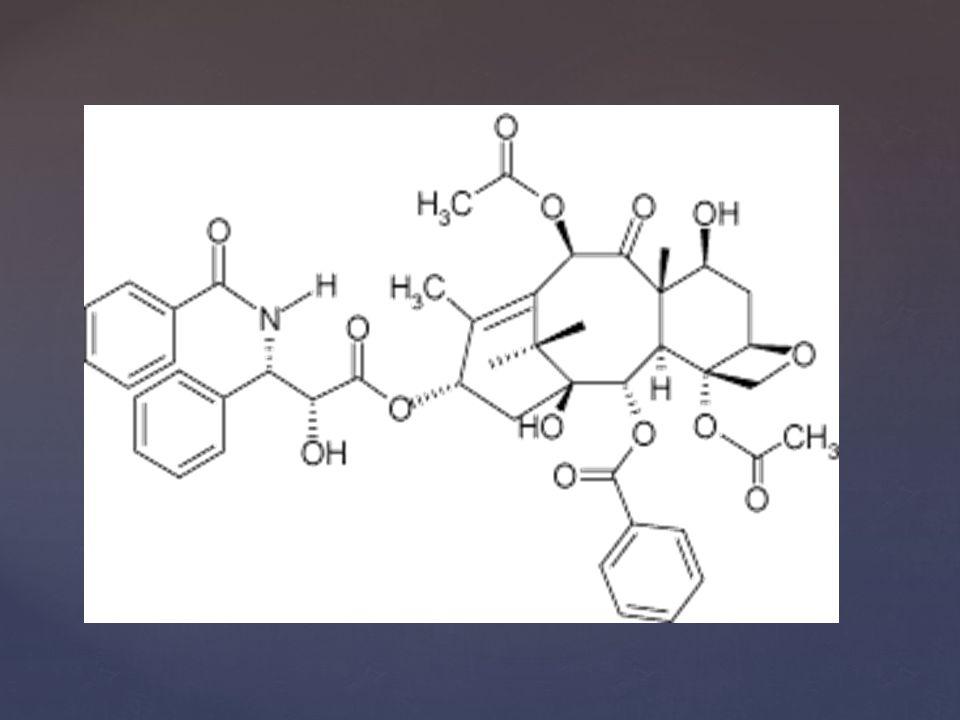 Paclitaxel -Pacifique Yew Bark -Inhibiteur de mitoses -Chimiotherapie -Cancer sein, poumon et sarcome de Kaposi -Traitement local des lesions stenotique arterielle -LEVANT 1 -FEMPAC -THUNDER