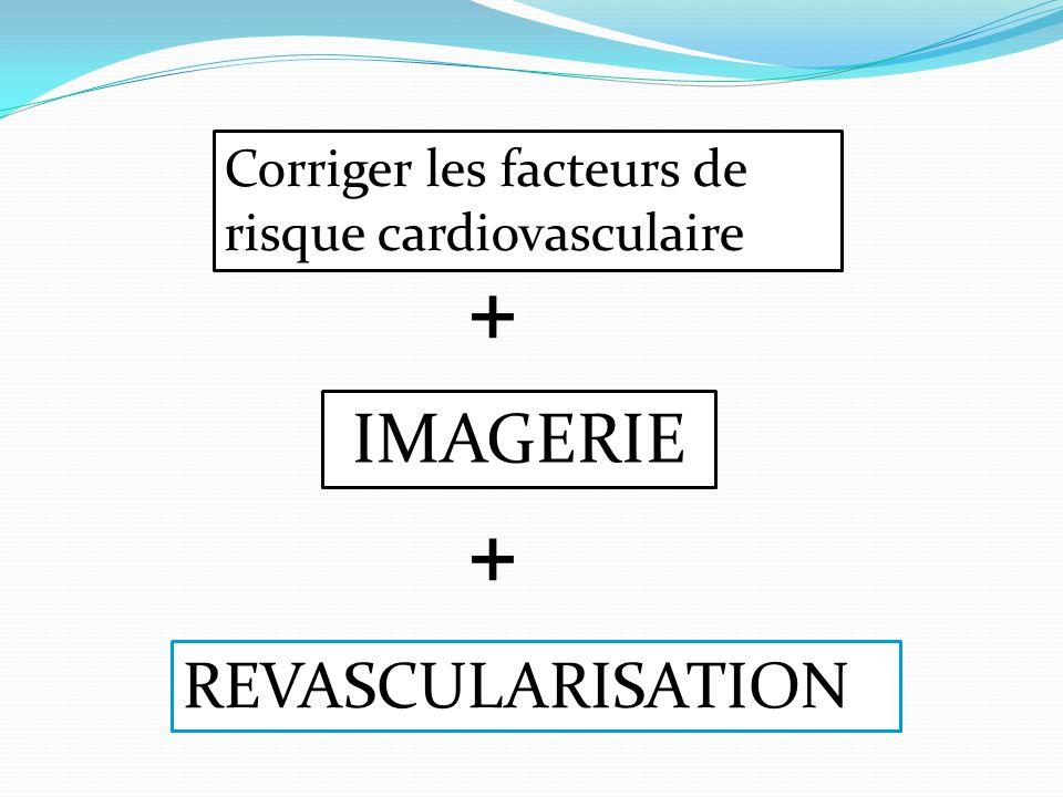 Corriger les facteurs de risque cardiovasculaire + REVASCULARISATION + IMAGERIE