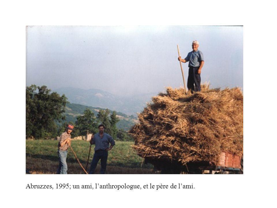 Abruzzes, 1995; un ami, lanthropologue, et le père de lami.