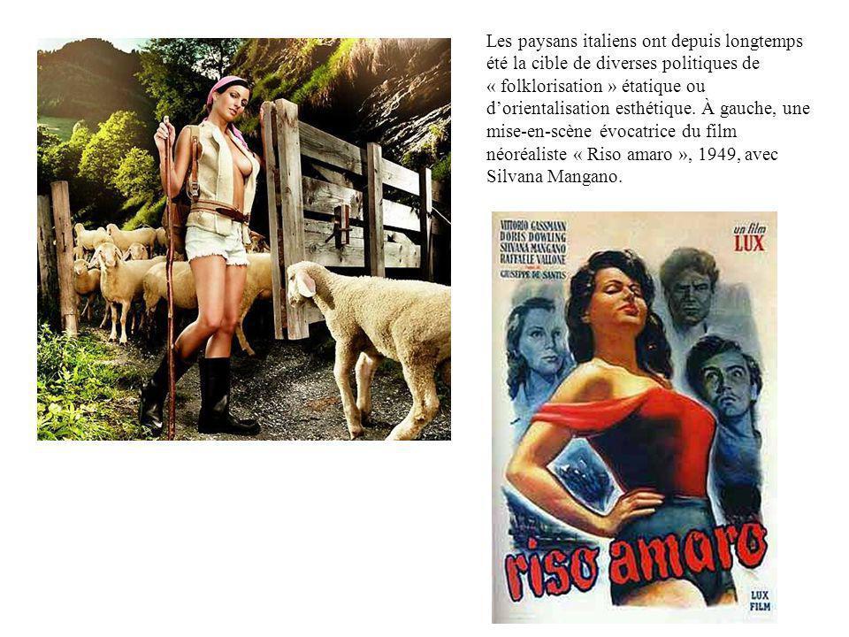 Les paysans italiens ont depuis longtemps été la cible de diverses politiques de « folklorisation » étatique ou dorientalisation esthétique. À gauche,