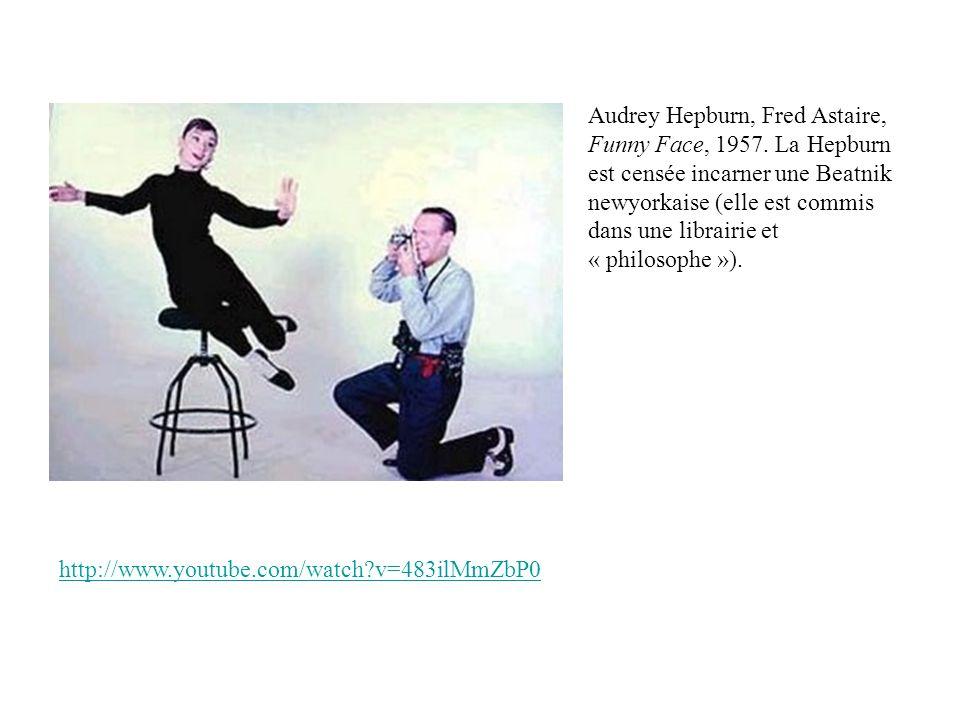 Audrey Hepburn, Fred Astaire, Funny Face, 1957. La Hepburn est censée incarner une Beatnik newyorkaise (elle est commis dans une librairie et « philos
